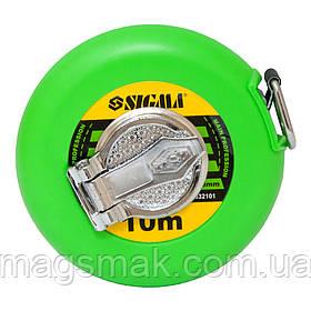 Рулетка тряпичная Sigma 10м*13мм (стекловолокно) (3832101)