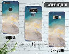 Силиконовый чехол для Meizu M6 Note Голубой мрамор (21032-3013), фото 3