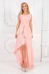 Женское красивое платье в пол с гипюром (3 цвета)