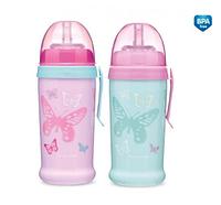 Поильник с трубочкой Бабочки от  Canpol Babies для девочки (Канпол)