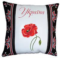 Декоративная сувенирная подушка с национальной вышивкой