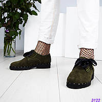Женские стильные туфли с атласной шнуровкой