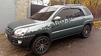 Дефлекторы окон(Ветровики) Kia Sportage 2004-2010 (Autoclover)