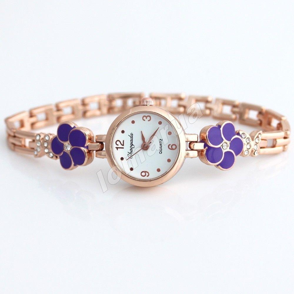 Женские часы-браслет со стразами Gold