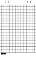 Блок бумаги для флипчартов клетка 10л.(BM.2295)