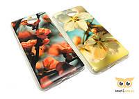Силиконовый чехол с цветами Sakura для Huawei Y7