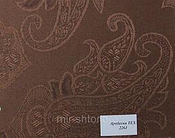 Готовые рулонные шторы 300*1500 Ткань Арабеска 2261 Коричневый