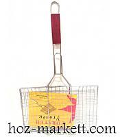 Решетка для гриля, барбекю прямоугольная 23*34 см №2027