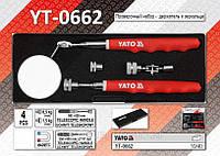 Проверочный набор - держатель + зеркальце, 4шт, YATO YT-0662