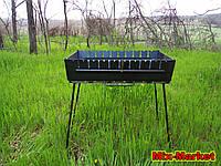 Розкладний мангал - валізу на 10 шампурів, фото 1