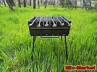 Складаний мангал валізу на 6 шампурів, фото 1