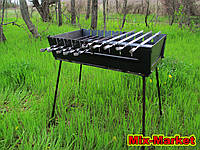 Мангал чемодан на 10 шампуров + комплект шампуров, фото 1