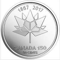 50 центів 2017 Канада - 150 років Конфедерації. UNC з ролу