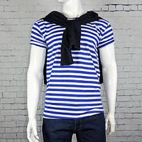 Тельняшка мужская футболка в полоску