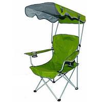 Кресло WIXXON Camping Chair Складное кресло с  навесом для кемпинга, Зеленое (SUN0370)