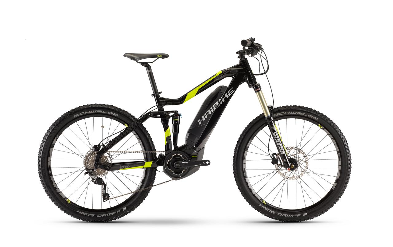 Велосипед Haibike SDURO AllMtn 5.0 400Wh 2017, рама 48см, ход:150мм, черный
