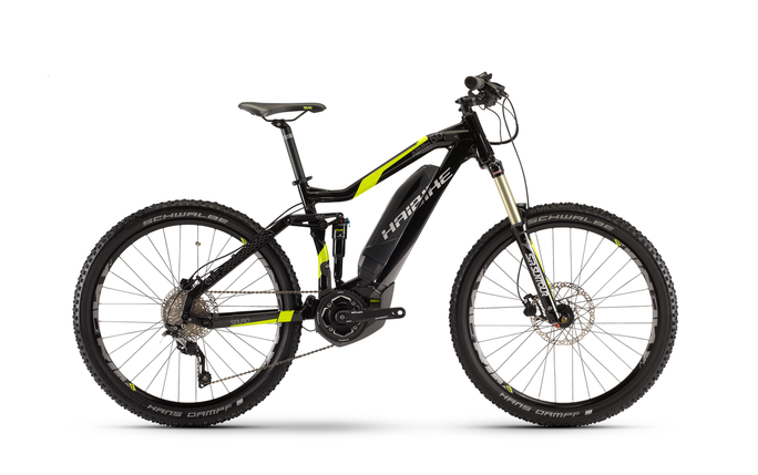 Велосипед Haibike SDURO AllMtn 5.0 400Wh 2017, рама 48см, ход:150мм, черный, фото 2