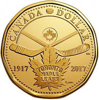 Канада-1 долар (2017) '100 років клубу Toronto Maple Leafs' UNC
