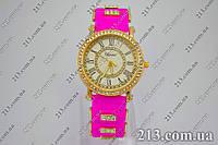 Женские часы на силиконовом ремешке Chopard pink розовые, фото 1