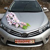 Букет для автомобиля розовый