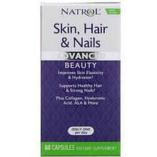 Natrol, Кожа, волосы и ногти, небывалая красота, 60 капсул