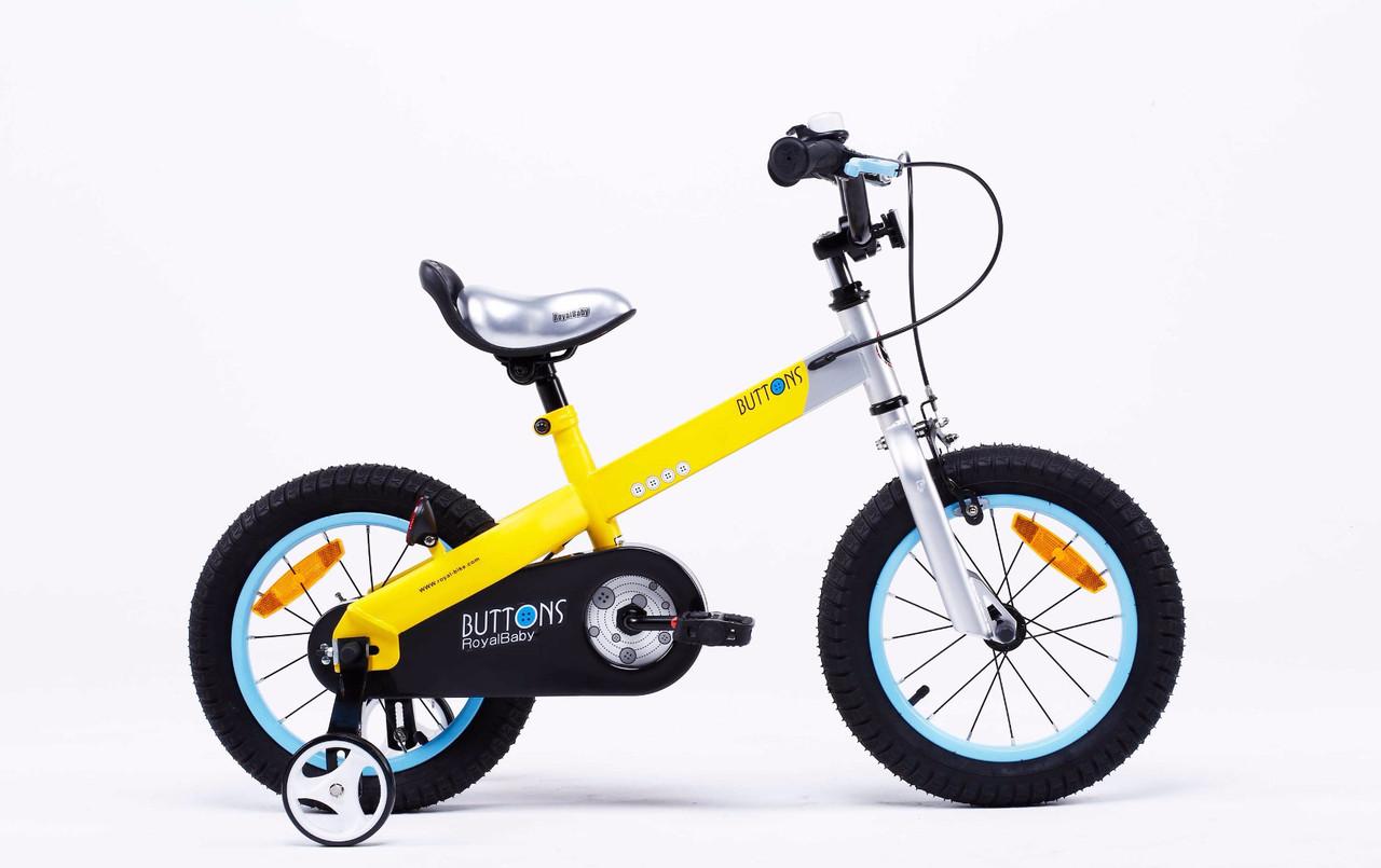 """Велосипед детский RoyalBaby BUTTONS 12"""", желтый"""