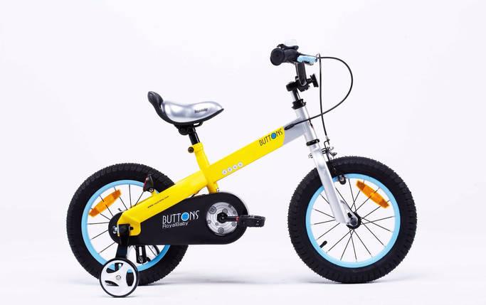 "Велосипед детский RoyalBaby BUTTONS 12"", желтый, фото 2"