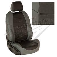 Чехлы на сиденья Hyundai Tucson I c 04-10г. (Экокожа Серый   Черный)