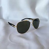 Солнцезащитные очки Aviator BVLGARI зеленый, фото 1