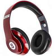 """Беспроводные складные bluetooth стерео наушники с микрофоном fm-радио micro SD картой """"TM-010S"""" красный цвет"""