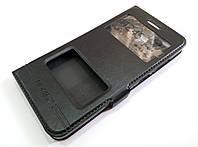 Чехол книжка с окошками momax для Huawei GR3 черный