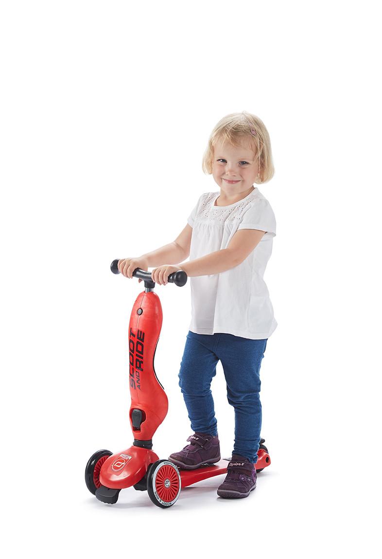 Scoot&Ride - Самокат-беговел серии Highway kick-1 от 1 до 5 лет, цвет Red