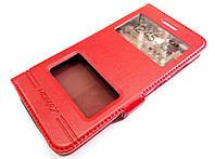 Чехол книжка с окошками momax для Huawei GR3 красный