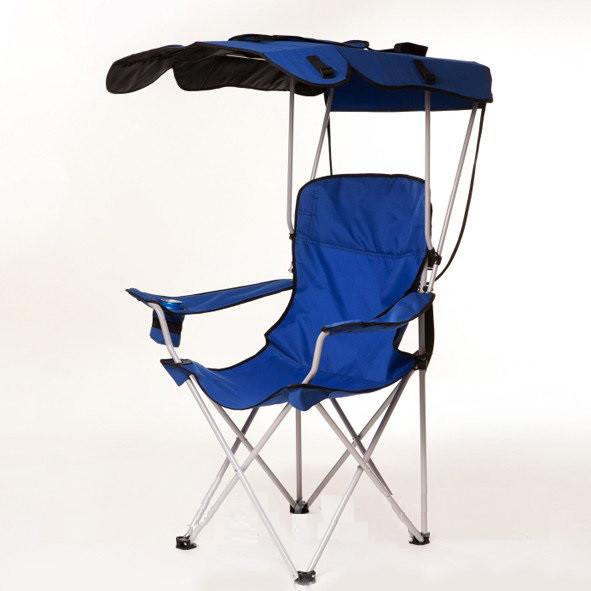 Кресло WIXXON Camping Chair Складное кресло с  навесом для кемпинга, Синее (SUN0371)
