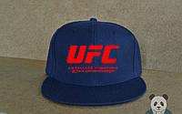 Кепка, cнепбек UFC,  красный  логотип (синий), Реплика