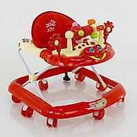 Детские ходунки музыкальные модель 528 (красный)