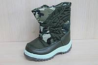 Теплые дутики на мальчика, зимние сапожки, детская зимняя обувь р.22