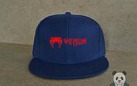 Кепка, cнепбек Venum, венум, красный  логотип (синий), Реплика