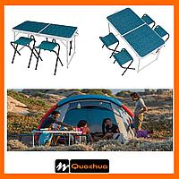 Стол с табуретами на 4-х человек Quechua