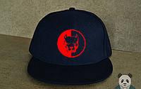 Кепка, cнепбек Smotra,смотра, красный  логотип (темно-синий), Реплика