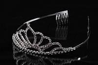"""Диадема """"Мarigold"""" (цвет: серебро) в камнях, украшение для головы, диадема - обруч, украшения для невест"""