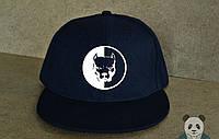 Кепка, cнепбек Smotra, смотра, белый  логотип (темно-синий), Реплика