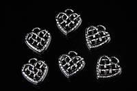Сердце металлическое Kalmiopsis, материал металл, цвет серебро, фигурки для рукоделия, декор, Товары для творчества, Рукоделие