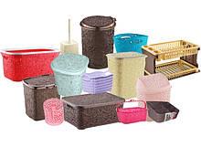 Ажурные изделия из пластика коробки,корзины,ящики.