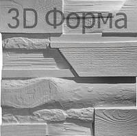 "Форма ""Древесный микс"" для 3D панелей 50х50, фото 1"