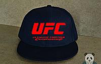 Кепка, cнепбек UFC, красный  логотип (темно-синий), Реплика