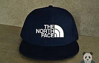 Кепка, cнепбек The North Face,  белый  логотип (темно-синий), Реплика