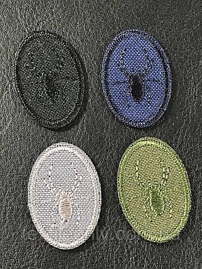 Нашивка паук цвет серый 20x30 мм, фото 2
