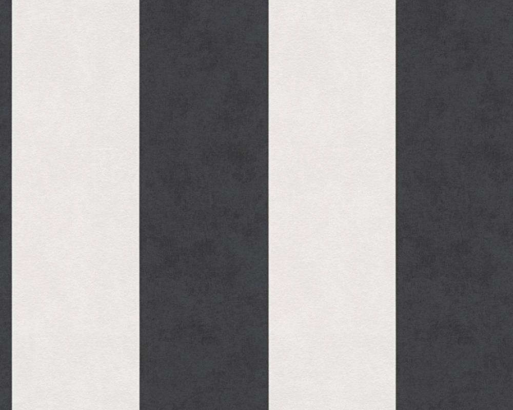 Миються німецькі шпалери з чорними і білими смугами Memory 329905, вінілові на флізеліновій основі
