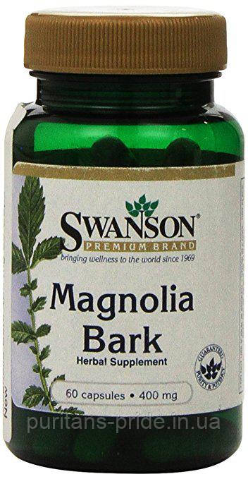 Кора Магнолии SWANSON MAGNOLIA BARK 400 MG 60 CAPS